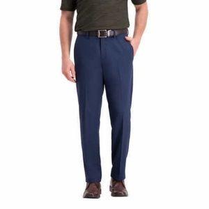 HAGGAR Mens Super flex waistband Flat front Pants